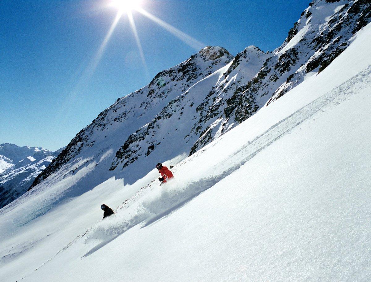 Står på ski i mont blanc